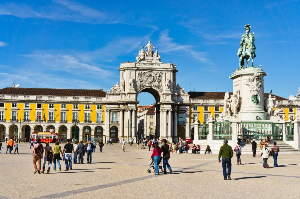 Commerce-Square-in-Lisbon-Portugal