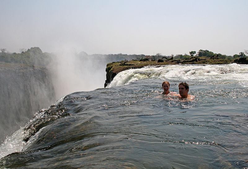 Tourists_swimming_at_Victoria_Falls